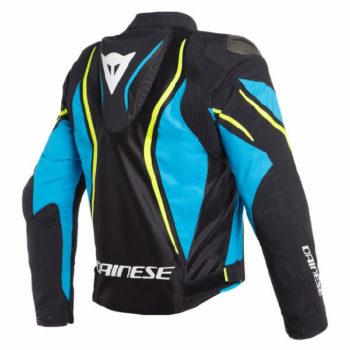 Dainese Estrema Air Tex Black Blue Fluorescent Yellow Riding Jacket 1