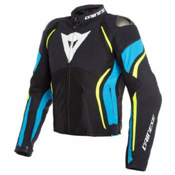 Dainese Estrema Air Tex Black Blue Fluorescent Yellow Riding Jacket