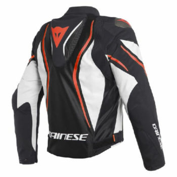 Dainese Estrema Air Tex Black White Fluorescent Red Riding Jacket 1