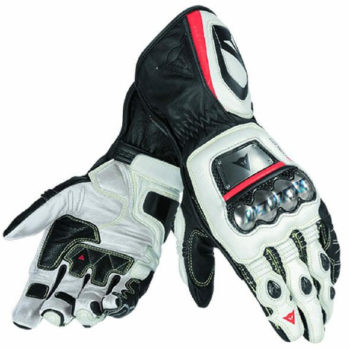 Dainese Full Metal D1 Black White Fluorescent Red Riding Gloves