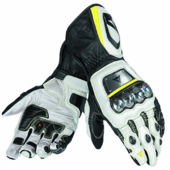 Dainese Full Metal D1 Black White Fluorescent Yellow Riding Gloves