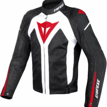 Dainese Hyper Flux D Dry White Black Red Riding Jacket