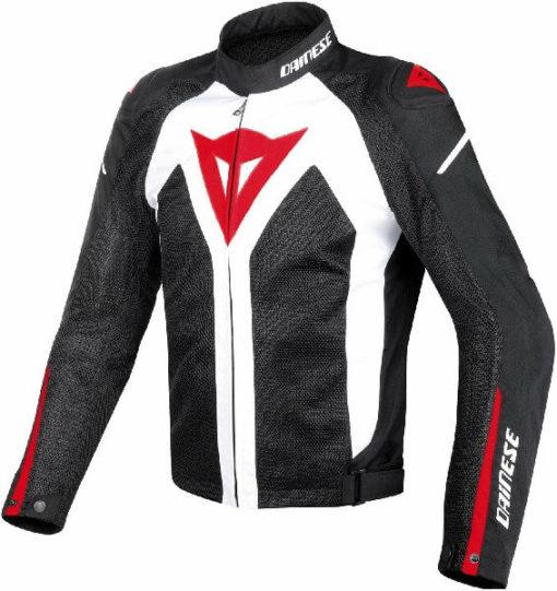 Dainese Hyper Flux D Dry White Black Red Riding Jacket