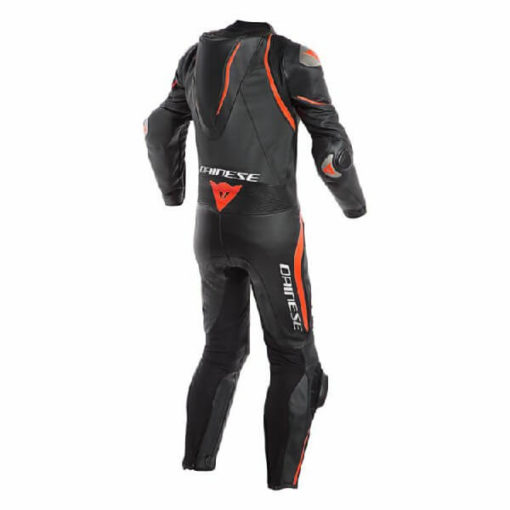 Dainese Laguna Sec 4 1 PC Leather Black Fluorescent Red Riding Suit 1