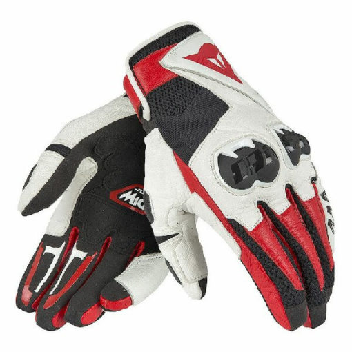 Dainese MIG C2 Unisex Black White Lava Red Riding Gloves