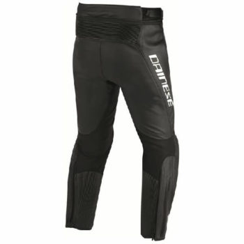 Dainese Misano Perforated Leather Black Anthracite Riding Pants 1