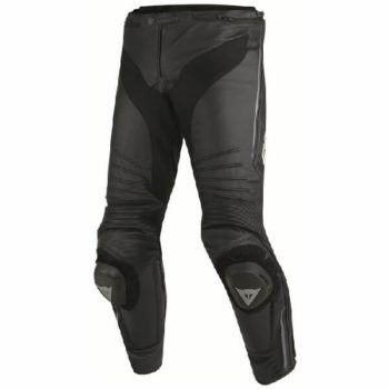 Dainese Misano Perforated Leather Black Anthracite Riding Pants