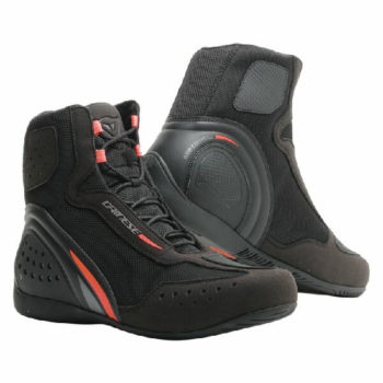Dainese Motorshoe D1 Air Black Fluorescent Red Anthracite Riding Shoes