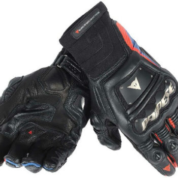 Dainese Race Pro In Black Fluorescent Red Blue Riding Gloves