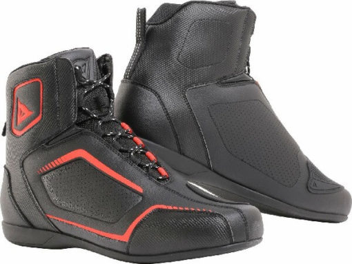 Dainese Raptor Air Black Fluorescent Red Riding Shoes