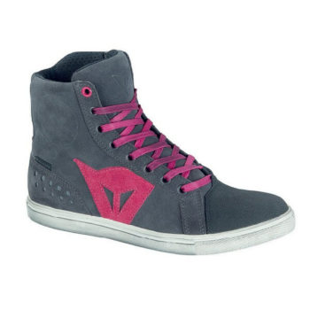 Dainese Street Biker Lady D WP Anthracite Fuchsia Riding Shoes