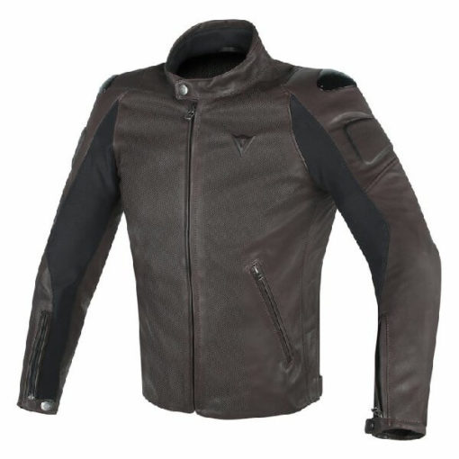 Dainese Street Darker Perforated Leather Brown Riding Jacket