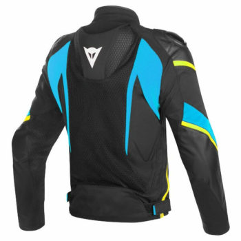Dainese Super Rider D Dry Black Blue Fluorescent Yellow Riding Jacket 1