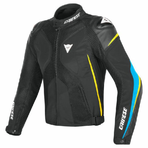 Dainese Super Rider D Dry Black Blue Fluorescent Yellow Riding Jacket
