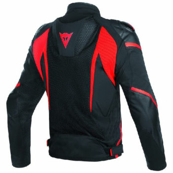 Dainese Super Rider D Dry Black Fluorescent Red Riding Jacket 1