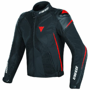 Dainese Super Rider D Dry Black Fluorescent Red Riding Jacket