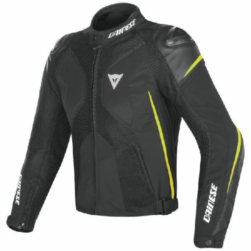 Dainese Super Rider D Dry Black Fluorescent Yellow Riding Jacket