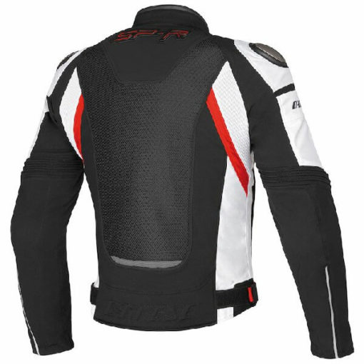 Dainese Super Speed Tex Black White Red Riding Jacket 1