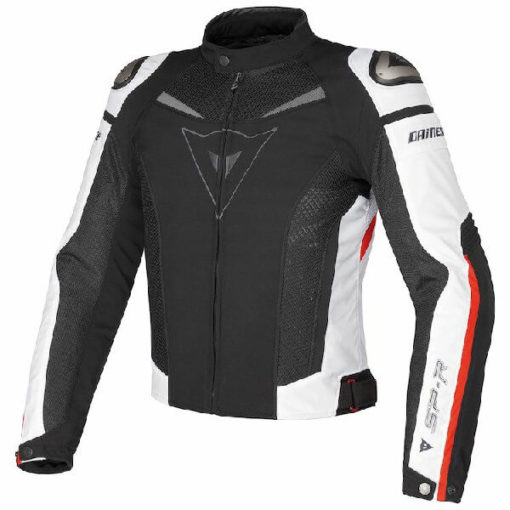 Dainese Super Speed Tex Black White Red Riding Jacket