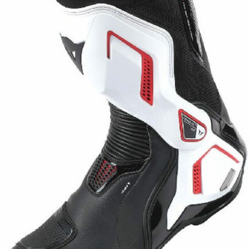 Dainese Torque D1 Out Air Black White Fluorescent Red Riding Boots