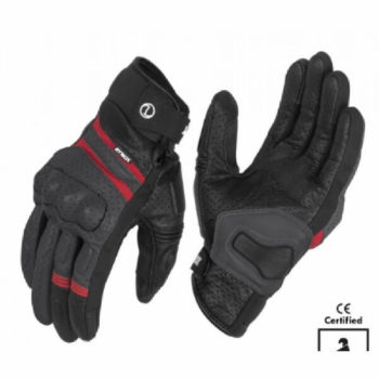 Rynox Air GT Motorsports Grey Red Riding Gloves 1