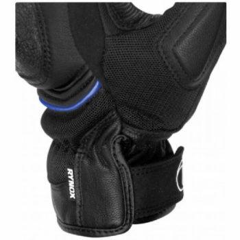 Rynox Tornado Pro 3 Motorsports Black Blue Riding Gloves 2
