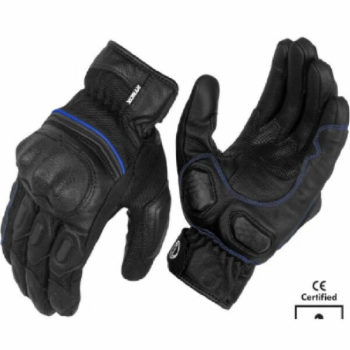 Rynox Tornado Pro 3 Motorsports Black Blue Riding Gloves