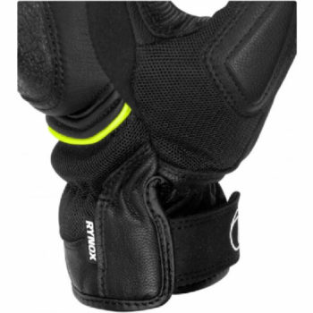 Rynox Tornado Pro 3 Motorsports Black Fluorescent Green Riding Gloves 1