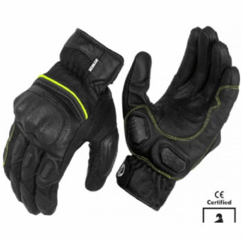 Rynox Tornado Pro 3 Motorsports Black Fluorescent Green Riding Gloves