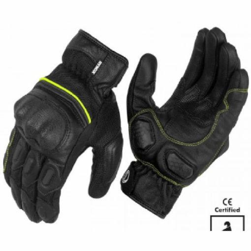 Rynox Tornado Pro 3 Motorsports Black Fluorescent Green Riding Gloves
