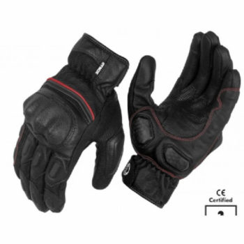 Rynox Tornado Pro 3 Motorsports Black Red Riding Gloves