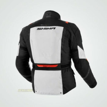 Shima Hero Black Red Grey Riding Jacket 1