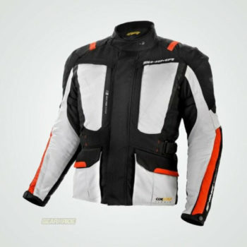 Shima Hero Black Red Grey Riding Jacket