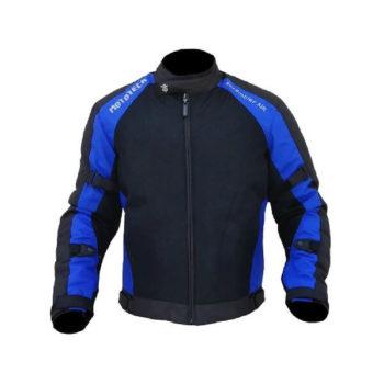 Mototech Scrambler Air Black Blue Motorcycle Jacket