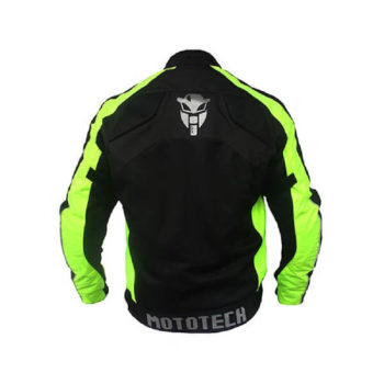Mototech Scrambler Air Black Fluorescent Green Motorcycle Jacket 1