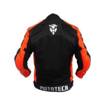 Mototech Scrambler Air Black Orange Motorcycle Jacket 1