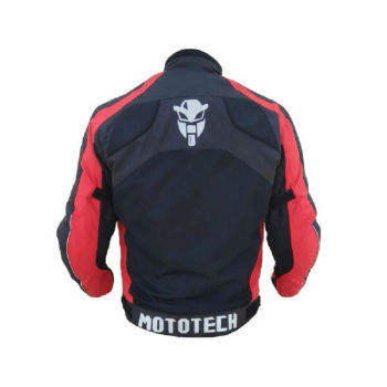 Mototech Scrambler Air Black Red Motorcycle Jacket 1