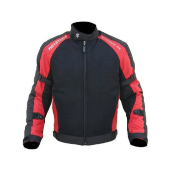 Mototech Scrambler Air Black Red Motorcycle Jacket