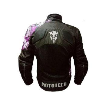 Mototech Scrambler Air Womens Black Purple Motorcycle Jacket 1