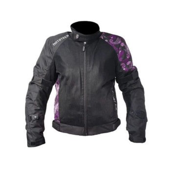 Mototech Scrambler Air Womens Black Purple Motorcycle Jacket