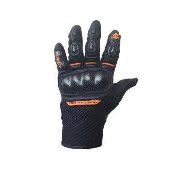 Mototech Urbane Short Carbon Orange Riding Gloves