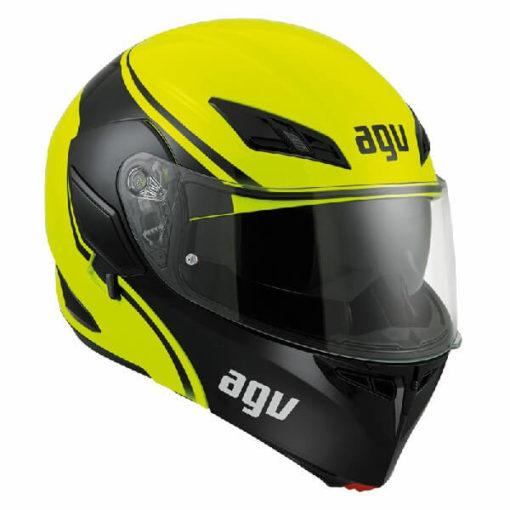 AGV Compact Multi PLK Course Yellow Black Flip Up Helmet 2020