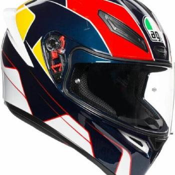 AGV K 1 Pitlane Gloss White Blue Red Yellow Full Face Helmet 2020
