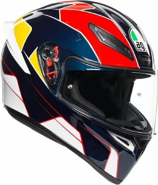 AGV K 1 Pitlane Gloss White Blue Red Yellow Full Face Helmet 2020