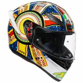 AGV K 1 Top Dreamtime Gloss White Yellow Blue Full Face Helmet 2020