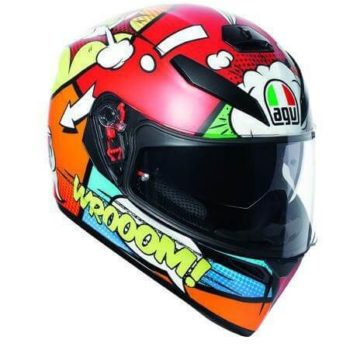 AGV K 3 SV Baloon Matt Red Orange Blue Green Full Face Helmet 2020