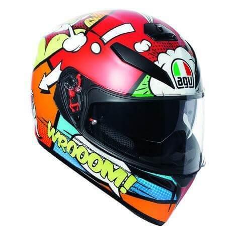 AGV K 3 SV Baloon Matt Red Orange Blue Green Full Face Helmet 2020