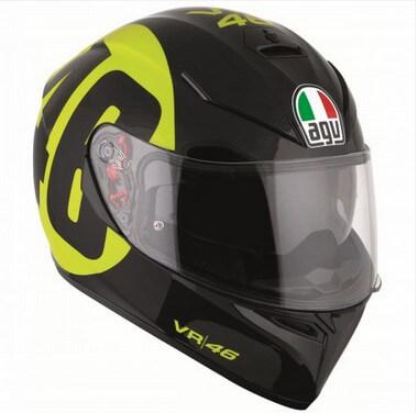 AGV K3 SV Bollo 46 Gloss Black Yellow Full Face Helmet 2020