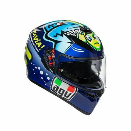 AGV K3 SV Misano 2015 Gloss Blue Yellow Helmet 2020