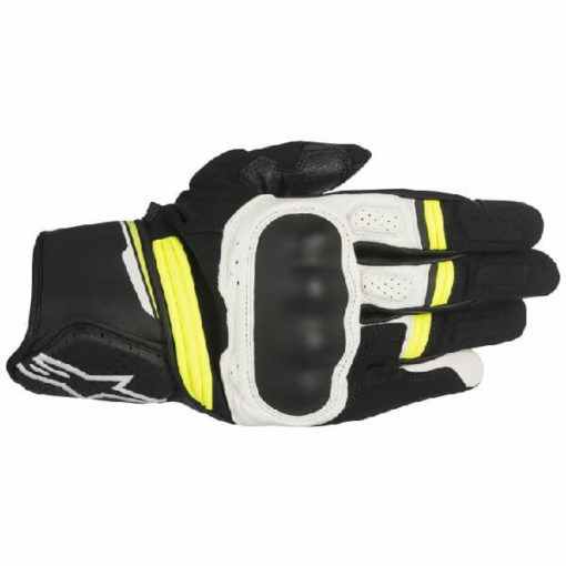 Alpinestars Booster Black White Fluorescent Yellow Riding Gloves 2020